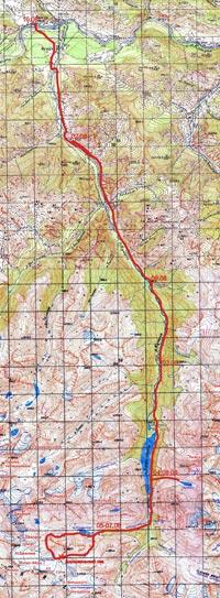 Горный Алтай: Карта маршрута (3.05 Мб)