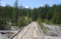 Горный Алтай: Река Актру мост за перевалкой (90.49 Kb)