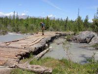 Горный Алтай: Река Актру мост за перевалкой (115.03 Kb)