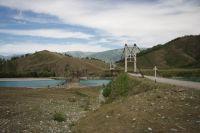 Горный Алтай: Река Катунь мост в районе села Мульта (125.54 Kb)
