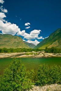 Горный Алтай: Река Чулышман район впадения реки Чульча (90.88 Kb)