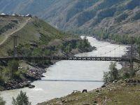 Горный Алтай: Река Катунь мост у села Иня (117.88 Kb)