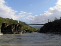 Горный Алтай: Река Катунь мост в районе села Эдиган (62.44 Kb)