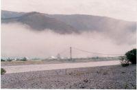 Горный Алтай: Река Катунь. Утро. Мост в Тюнгуре  (51.65 Kb)